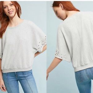Anthropologie gray sweatshirt